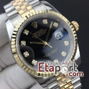 Rolex DateJust 36 116234 GMF 11 Best Edition YG Wrapped Black Dial Diamonds Markers on (1)