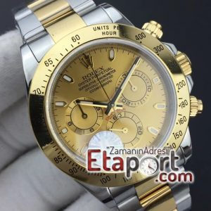 Rolex Daytona Gold eta saat 7750 eta 116503 JF 11 Best Edition Yellow Gold Dial on SSYG Bracelet A7750