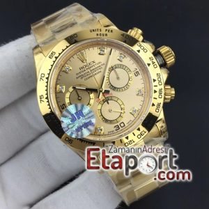 Daytona JHF 11 Best Edition YG Plated Case and Bracelet On Yellow Gold Dial A7750
