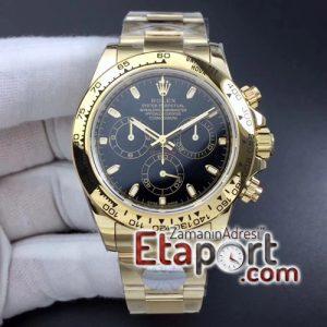 Rolex Daytona 116508 ARF 11 Best Edition YG Plated 904L SS Case and Bracelet Black Dial A4130 Super Clone V2
