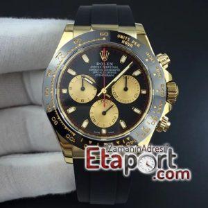 Rolex Daytona 4130 Super Clone V2 116518 LN Paul Newman ARF Best Edition Black Dial on Oysterflex Strap