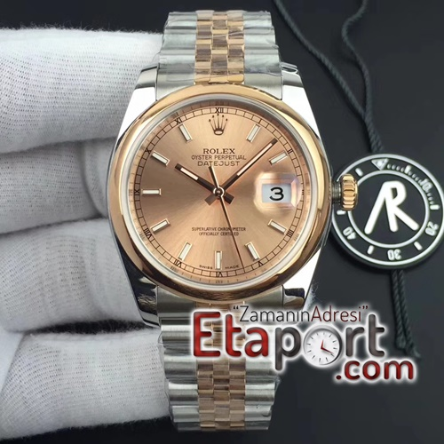 Rolex DateJust 36 SSRG 116231 ARF 11 Best Edition RG Dial Stick Markers on SSRG Jubilee SH3132