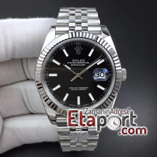 Rolex DateJust 41mm super clon 126334 ARF Best Edition 904L Steel Black Dial on Jubilee Bracelet