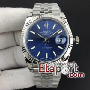 Rolex DateJust 41 mm 126334 REF Best Edition Blue Dial Stick Markers on Jubilee