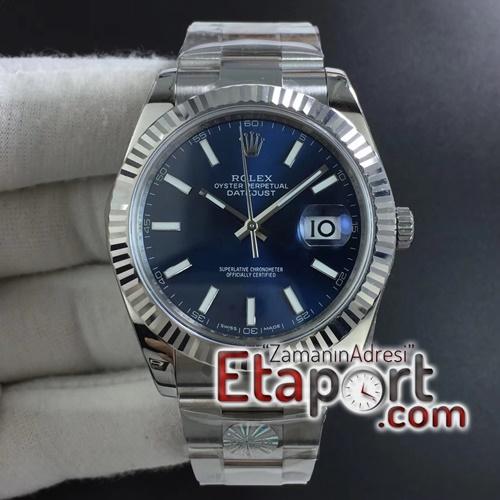 Rolex DateJust 41mm ARF Best Edition 904L Steel Blue Dial on Oyster Bracelet 3235SH