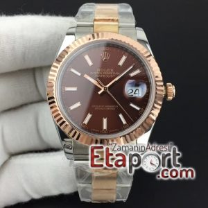 Rolex DateJust II 41mm GMF 11 Best Edition RG Wrapped Brown Sticks Dial on SSYG Oyster Bracelet A