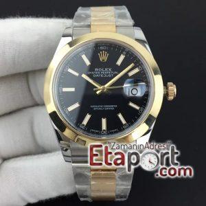 Rolex DateJust II 41mm noob 3235 eta saat Best Edition YG Wrapped Black Sticks Dial on