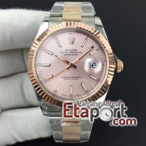 Rolex DateJust II super clon 41mm GMF Best Edition RG Wrapped Pink Sticks Dial on SSYG Oyster Bracelet A3235