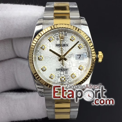 Rolex Datejust 36mm 116234 SSYG DJF Super 11 Best Edition Silver Jubilee Dial On SS