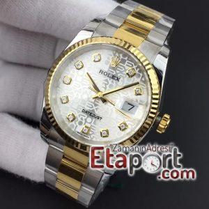 Rolex Datejust Eta Saat fiyat 36mm 116234 SSYG DJF Super 11 Best Edition Silver Jubilee Dial On SS