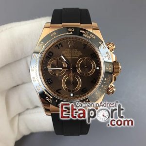 Rolex Daytona 116515 ARF Best Edition Chocolate Dial on Black Rubber Strap 4130 Super Clone
