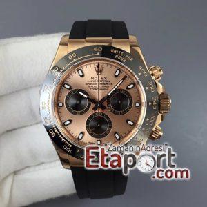 Rolex Daytona 116515 ARF Best Edition Rose Gold Dial on Black Rubber Strap 4130 Super Clone V2