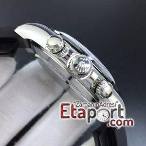 Rolex Daytona 116519 Noob 11 Best Edition 904L SS Case Blue Dial on Black Rubber Strap SA4130 V2
