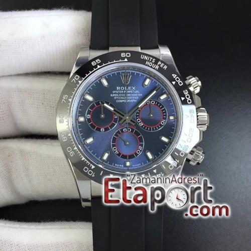 Rolex Daytona Clone Eta 4130 Mavi Kadran 904L Çelik Kasa