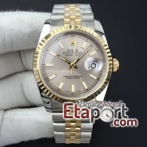 Rolex DateJust 36 mm GMF Best Edition YG Wrapped Silver Dial on Jubilee Super Clone Eta