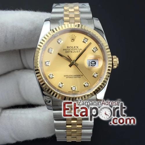 Rolex Eta saat DateJust 36 mm 116234 Jübile Kordon Gold Kasa