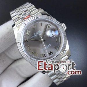 Rolex Replika saat DateJust 36 904L Steel Gray Dial Roman Markers