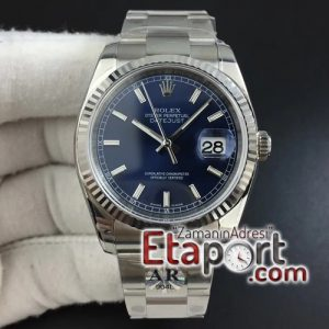 Rolex Super clon DateJust 36 116234 ARF 11 Best Edition 904L Steel Blue Dial on Jubilee Bracelet