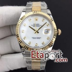 Rolex eta saat A3235 DateJust II 41mm GMF 11 Best Edition YG Wrapped MOP Diamond Dial on SSYG Oyster Bracelet
