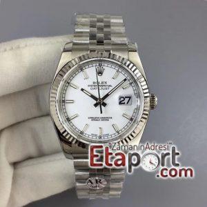 Rolex eta saat DateJust 36 SS 116234 ARF 11 904L Steel White Dial on Jubilee SH3135 V2