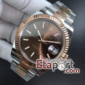 Rolex eta saat DateJust 41 126331 ARF 904L Steel Brown Dial Stick Markers