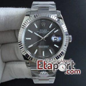 Rolex eta saat DateJust 41 mm 126334 ARF 11 Best Edition 904L Steel Gray Dial on Oyster Bracelet