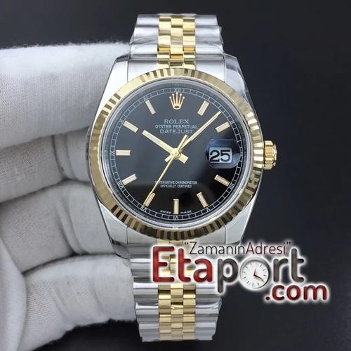 Rolex eta saat lüx DateJust 36 mm 116233 ARF 11 Best Edition 904L Steel Black Dia