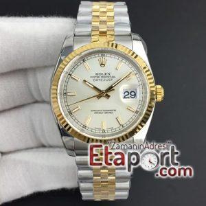 Rolex replika eta saat Rolex eta saat DateJust 36 mm 126233 ARF Silver Dial Stick Markers
