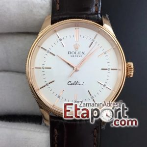 Rolex replika saatler Cellini Time 50509 RG MKF Best Edition