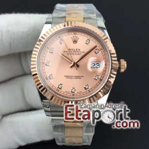 Rolex super clon DateJust II 41mm GMF 11 Best Edition RG Wrapped Pink Diamond Dial on SSYG Oyster 3535