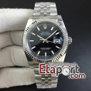 DateJust 36 SS 116234 ARF 11 Best Edition 904L Steel Black Dial Stick Markers on Jubilee Bracelet SH3135 V2