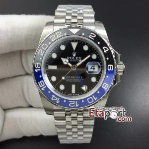 GMT Master II 126710 BLNR Real Ceramic 904L SS DJF 11 Best Edition Black Dial on Jubilee Bracelet A3186 Super Clone Mekanizma