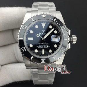 Eta Swiss Saat Submariner 116610 LN Black Ceramic V10 2836 eta mekanizma