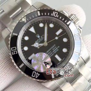 Eta saat 3130 swiss eta mekanizma Submariner 114060 Black