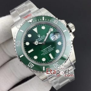 Eta saat Rolex Submariner 116610 LV Green Ceramic Noob Best Edition 904L 2836 V9