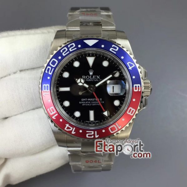 GMT Master II 116719 BLRO GMF 904L Steel Edition Black Dial on Bracelet A2836