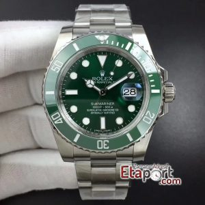 Rolex Submariner Yeşil Kadran Yeşil Bezel 904L Çelik Kalitesi 3135 Super Clone Eta Mekanizma