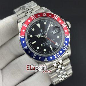 BlueRed Bezel GMT-Master Maker Black Dial Jubilee Bracelet 2836 Clone
