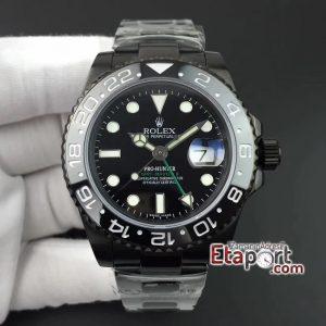 GMT-Master II 2836 Rolex BP Maker Pro Hunter PVD All Black Black Dial on PVD Bracelet Super Clone Eta Mekanizma