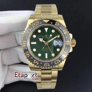GMT-Master Rolex 3285 Black Ceramic YG Plated 904L Steel GMF 11 Best Edition Green Dial Super Clone Eta Mekanizma