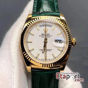Rolex Beyaz Day-Date 2836 Swiss Clone Eta Mekanizma 904L Çelik 36mm Kasa