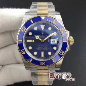 Rolex 2836 Clone Submariner LB Noob Mavi Bezel