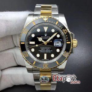 Rolex 3135 Clone Submariner ARF Siyah Bezel Siyah Kadran 904L Kasa Ve Kordon