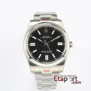 Rolex Eta Saat Oyster Perpetual Siyah Kadran 3132 Super Clone Eta Mekanizma 41mm 904L Çelik Kasa Kordon