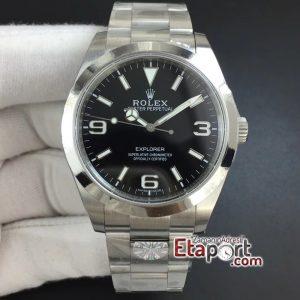 Rolex Explorer I ARF 3132 Super Clone Eta Mekanizma Siyah Kadran 904L Çelik Kasa Ve Kordon