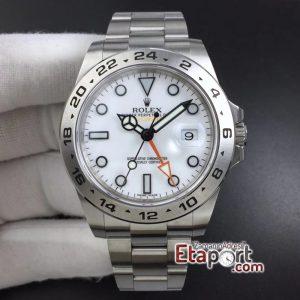 Rolex Explorer II GMF 3186 Super Clone Eta Mekanizma Beyaz Kadran 904L Çelik Kasa Ve Kordon