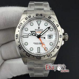 Rolex Explorer II Noob 3187 Super Clone Eta Mekanizma Beyaz Kadran 904L Çelik Kasa Ve Kordon