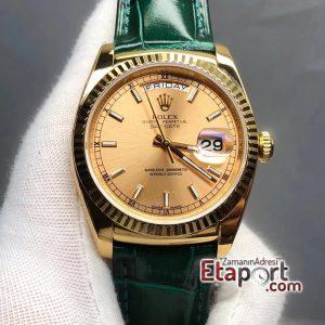 Rolex Gold Day-Date 2836 Swiss Clone Eta Mekanizma 904L Çelik 36mm Kasa