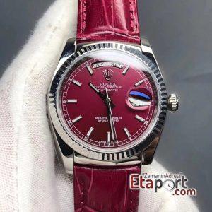 Rolex Kırmızı Day-Date 2836 Swiss Eta Mekanizma 904L Çelik 36mm Kasa