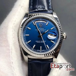 Rolex Mavi Day-Date 2836 Swiss Eta Mekanizma 904L Çelik 36mm Kasa